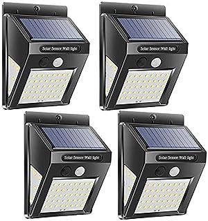 MaYoYo Solar Lights Outdoor, Wireless 50 LED Motion Sensor Solar Lights (Upgraded) with Wide Lighting Area, Easy Install W...