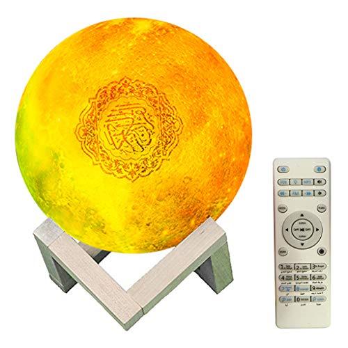 freneci 7 Farben 3D Mondlicht Quran Reciter Bluetooth Speaker Player Touch Lamp