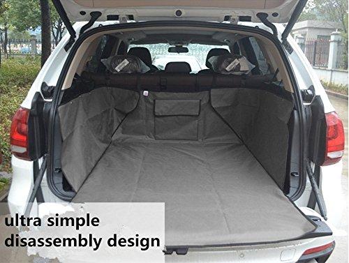 FuriAuto Q350105-03-CH0491-gray Imperméable À L'Eau Pour Animaux Pliable Protection Arrière De Voiture Seat Cover