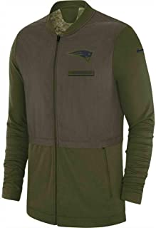 Fanatics Men's New England Patriots Salute to Service Hybrid 2018 Zip Jacket