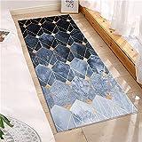 Alfombrilla de Cocina Azul geométrica Abstracta, Alfombrilla...
