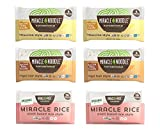 Miracle Noodle Pasta & Rice Variety Pack - Fettuccine & Angel Hair Plant Based Shirataki Noodles - Plant Based Miracle Rice - Keto, Vegan, Gluten-Free, Low Carb, Paleo - 2 Bags of Each (Pack of 6)