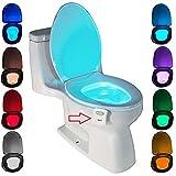 ★ C'est un intelligent luminaire toilette pour éclairage cuvette siège, s'allume automatique quand le personne arrive et s'éteint automatiquement quand les gens quittent. ★ 8 couleurs émission de lumière: 8 changements de couleurs, chaque couleur dur...