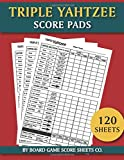 Triple Yahtzee Score Pads - 120 Sheets: The Ultimate Triple Yatzee Dice Game Score Sheets