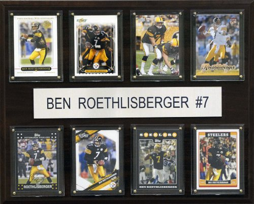NFL Ben Roethlisberger Pittsburgh Steelers 8 Card Plaque
