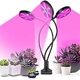 Lámpara de Plantas, 711light Lámpara de Crecimiento, 3 Cabezas Plantas Led Grow Light con 3 Modos de Lluminación, 5 Niveles Regulables para Jardinería, Rotación de 360°y Función de Temporizador