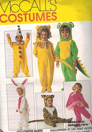 7853 McCalls Sewing Pattern Uncut Girls Boys Child Halloween Costume Clown Bunny Lion Tiger Mouse Santa Dinosaur…