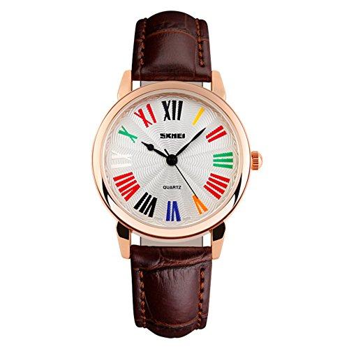 Mode-Damen-Uhr/Einfach Farbe Persönlichkeit Roman-D