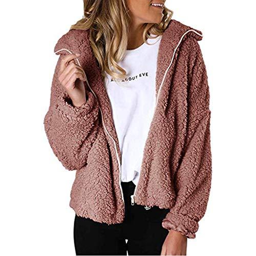 Dames Faux Bont Jassen - Fluffy Lange Mouwen Fleece Lapel Winter Outwear - Herfst Winter Opwarming Bovenkleding Cardigan