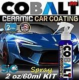 Ceramic CAR Coating True Nano 9H Scratch Resistant Paint Protection Cobalt 9H Ceramic Spray 2oz/60ml KIT