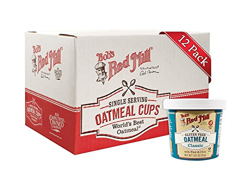 Bob's Red Mill Gluten Free Oatmeal Cup Classic with Flax & Chia (Pack of 12)