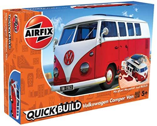 Airfix J6017 QUICKBUILD VW Kamper Bully, rot Modellbausatz