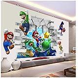 WANGJIA Wandtattoos & Wandbilder Super Mario Wandaufkleber Für Kinderzimmer Dekoration Cartoon Game Fans Wandtattoos Kunst Kinder Geburtstagsgeschenk