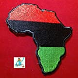 RBG Africa Patch 3x3 inches - Iron On - Embroidery