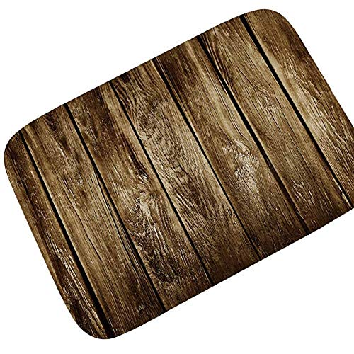 HLXX Alfombrillas de Suelo Vintage para Decorar la Entrada de la casa Europea Felpudo Absorbente Antideslizante Alfombra de baño Alfombrillas de Puerta Alfombra de Cocina A6 50x80cm