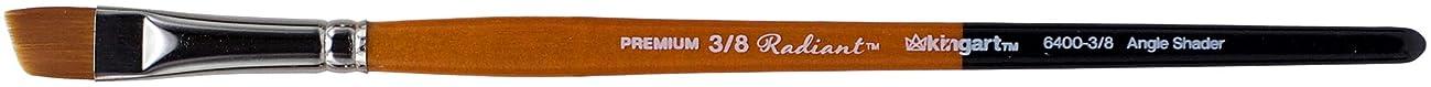 KINGART 6400-3/8 TAKLON Angular SAHDER Paint Brush, Black/Silver/Orange