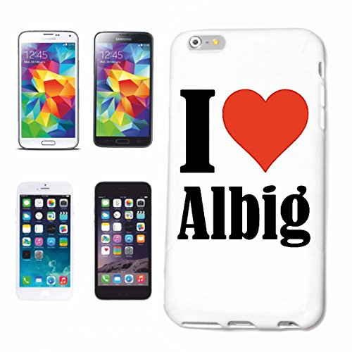Reifen-Markt Handyhülle kompatibel für iPhone 5C I Love Albig Hardcase Schutzhülle Handy Cover Smart Cover