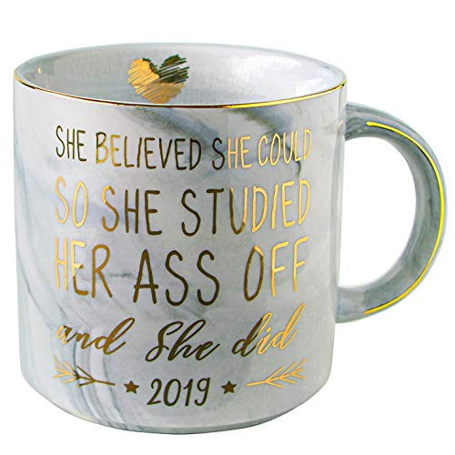Vilight 2019 Graduation and Congratulations Gifts for Her - Christmas Presents for College Nurse Graduated Women - She Believed she could So She Did Coffee Mug 11 Oz