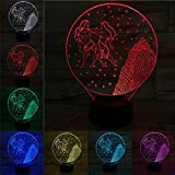 Solo 1 artículo Lámpara Gemini 3D Twin Luz nocturna Bombilla LED Multicolor Fade Holiday Props Regalos para n Girl Home Table Deocr