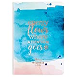 Erin Condren Designer Petite Planner - Wellness Log/Wellness Planner Achieve Health Goals, Track Fitness, Sleep, Nutrition, Water Intake, Habits and More