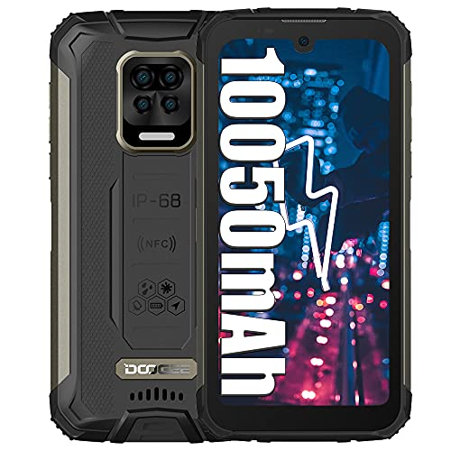 DOOGEE S59 Pro 4G Smartphone Resistente, batería de 10050 mAh, teléfonos móviles de 4 GB + 128 GB, Altavoz de 2 W, cámara de 16 MP Teléfono Resistente al Agua de 5,71 Pulgadas con Doble SIM NFC Negro