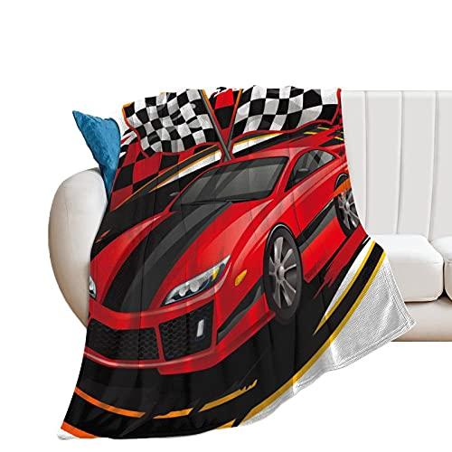 DKISEE Manta de franela para sofá Race Cars Vs Harvard, manta de forro polar de 152 x 202 cm