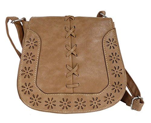 Handtasche - Umhängetasche - Trachtentasche fürs Dirndl - gestanztes Muster - weiches...