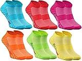 Rainbow Socks - Damen Herren Quarter Sport Socken - 6 Paar - Mehrfarbig - Größen 36-38