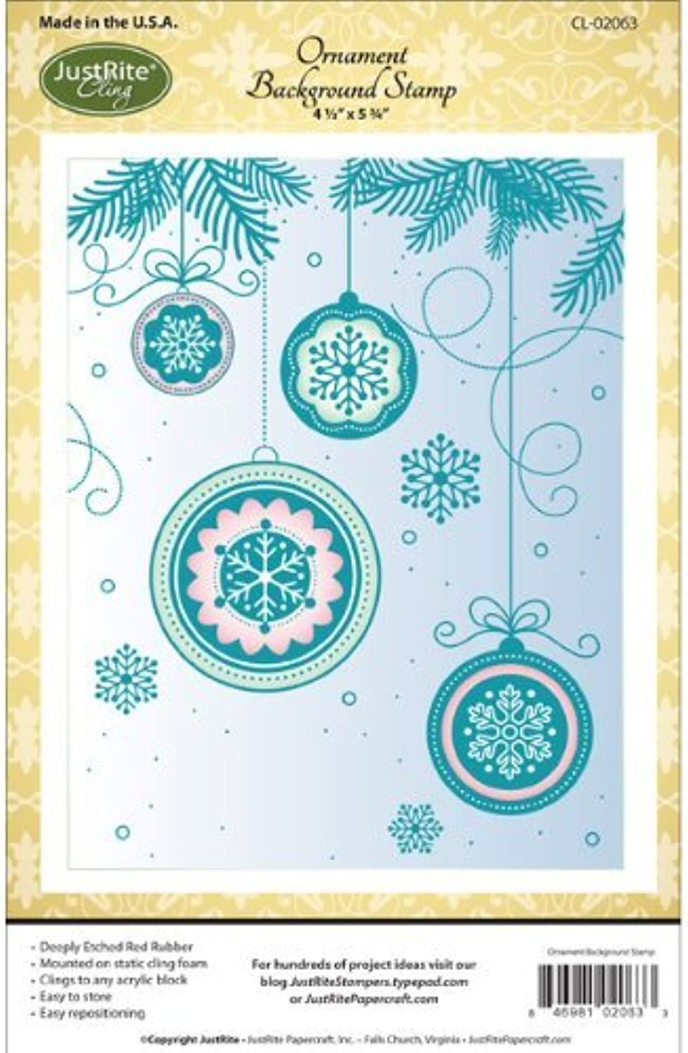 Justrite Cling Background Stamp, 4.5-Inch x 5.75-Inch, Ornament Ornament Ornament by Justrite B0149HBOB8 | Billig ideal  05377d