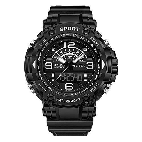 Elegante reloj pulsera para hombre,relojes correa piel sintética, movimiento electrones perfecto, 30m resistente gua los arañazos,cronógrafo analógico militar para exteriores, mejor regalo para hombre