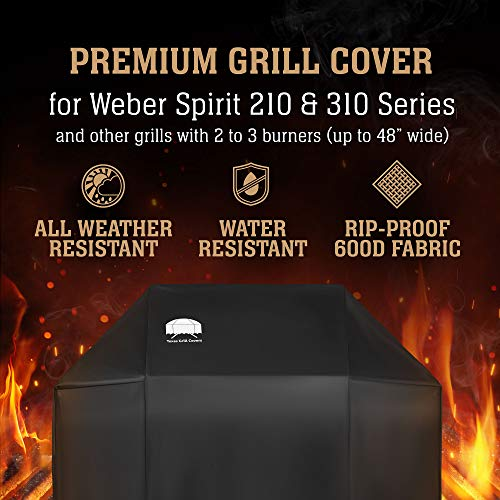 Texas Grill Cover 7573 Preminum cover Barbque Weber Spirit 200/300 Gas Grills Including Brush and Tongs