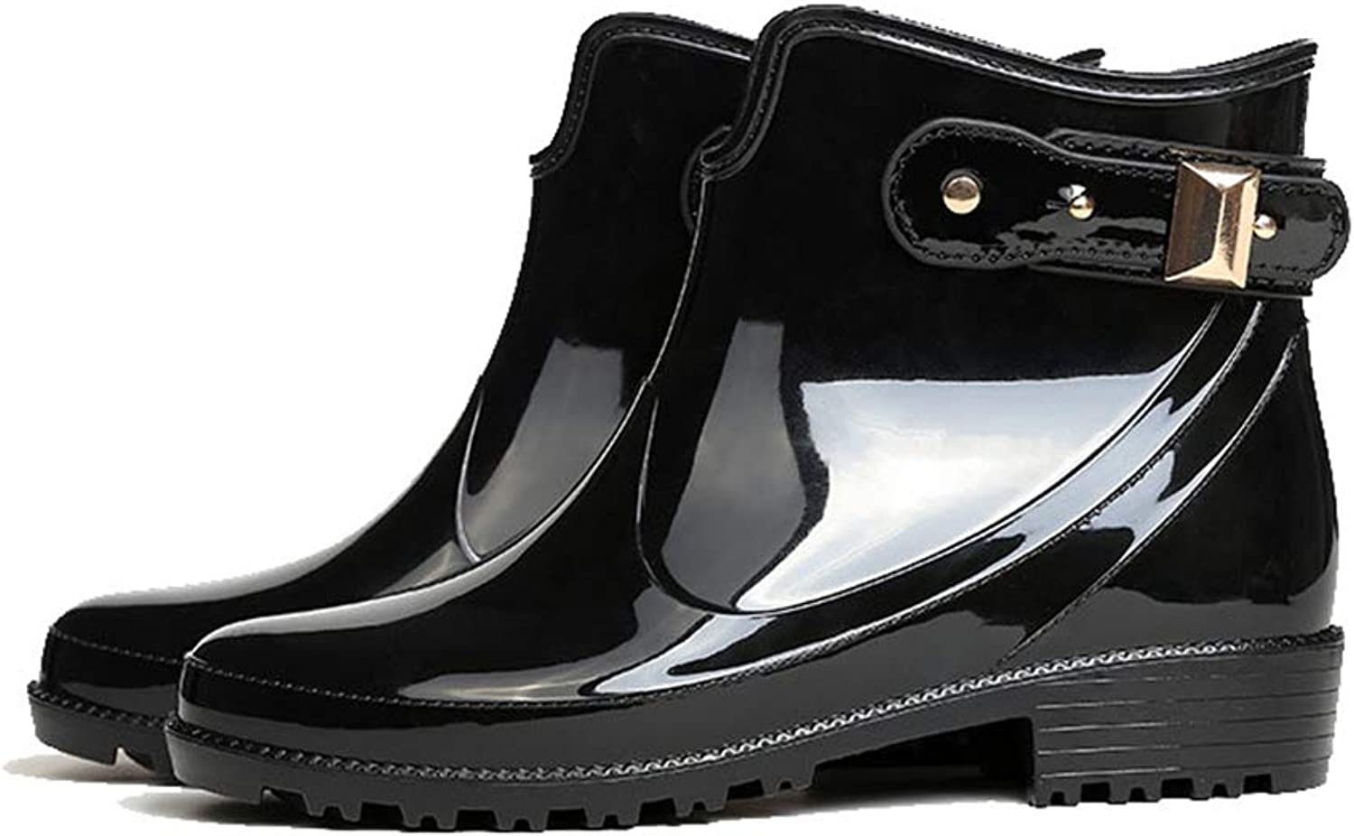 Gusha in The Tube Martin rain Boots Women's Waterproof Boots