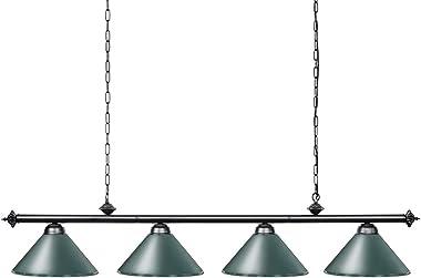 "Wellmet 70"" Pool Table Lights, 4 Lights Hanging Billiard Light Fixture, Adjustable Height for 9ft 10ft 11ft Billiard Table, G"