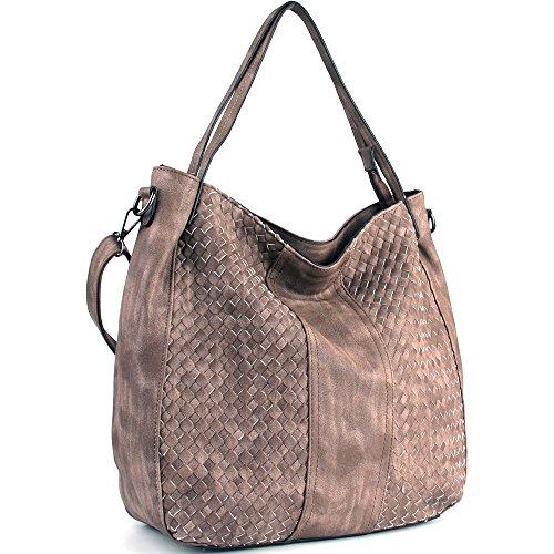 WISHESGEM Women Handbags Top-Handle Fashion Hobo Tote Bags PU Leather Shoulder Satchel...