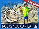 Kids Learn How To Eat Beach Rocks