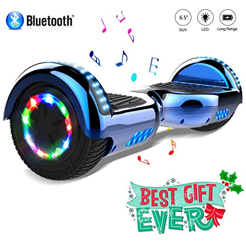 COLORWAY Patinete Eléctrico 6,5'Hover Scooter Board 700W con Ruedas de Flash LED, Altavoz Bluetooth y LED, Autoequilibrio de Scooter Eléctrico