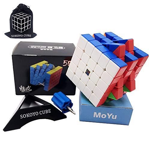 SOKOYO Moyu Meilong M magnético 2x2 3x3 Cubo mágico 4x4 5x5 Stickerless Speed Cube Magnet Puzzle Cube 2x2x2 3x3x3 4x4x4 5x5x5 (5x5x5)