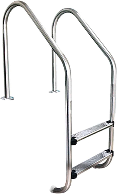 HHXD Antideslizante Escalera para Piscina Piscinas Privadas,Pool Escalera de Seguridad Acero Inoxidable/B / W50.2cm*133cm