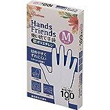 使い捨て手袋 軟ポリエチレン手袋 Mサイズ 粉なし パウダーフリー クリア 100枚入