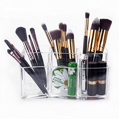 Czemo Organizzatore Trucco in Acrilico Contenitori Trucchi Cosmetic Organizer Porta pennelli Trucco (2)