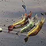 Everpert 6G 3 señuelos artificiales luminosos y suaves, anzuelos de pesca