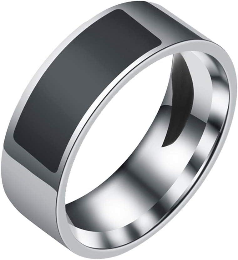 wpOP59NE NFC Intelligent Digital Smart Ring Waterproof Finger Ring Multifunctional for Android Window Black US 12