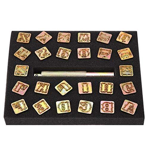 Alphabet Punch Stamp, 13mm Metal Stamp Punch Set Diseño Vintage Alfabeto 26 Letras Herramienta de troqueles Craft para DIY Arte hecho a mano Trabajo