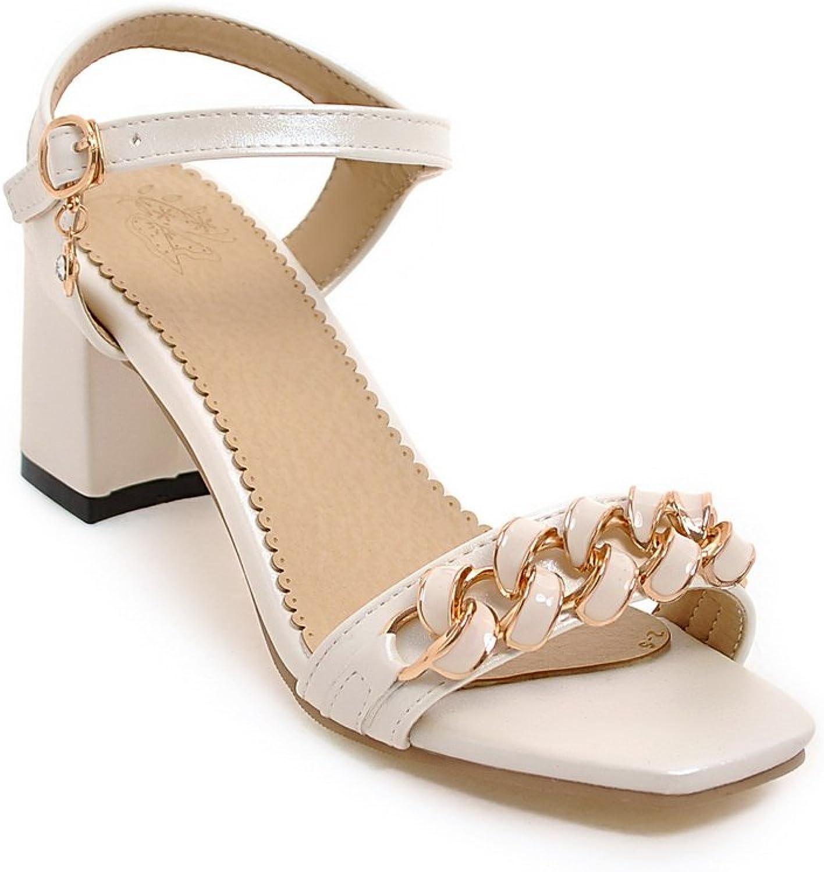 AdeeSu Womens Non-Marking Dress High-Heel Urethane Sandals SLC03913