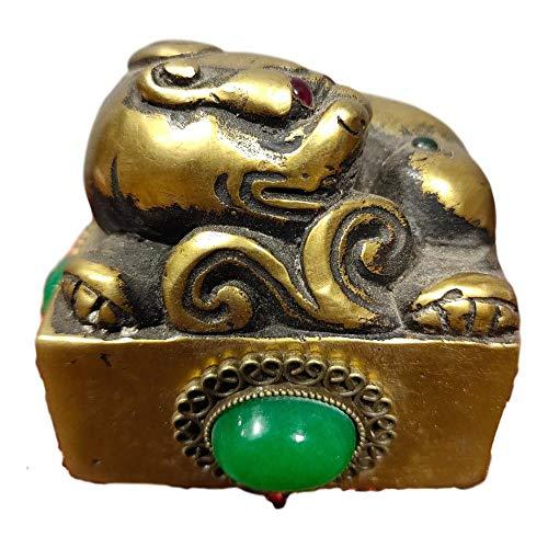 LAOJUNLU Collezione di vecchie pietre preziose intarsiate in ottone [Yongzheng Jiahan] Lucky Pixiu Rui Beast Jade