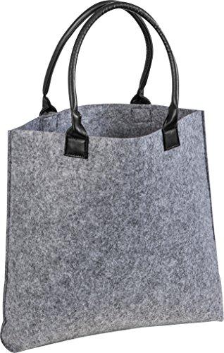 Filz-Einkaustasche Stoff-Shopper für Einkäufe mit Kunstleder-Henkel, Einkaufsbeutel aus Filzstoff, ca. 43,5 x 9 x 41,5 cm von noTrash2003