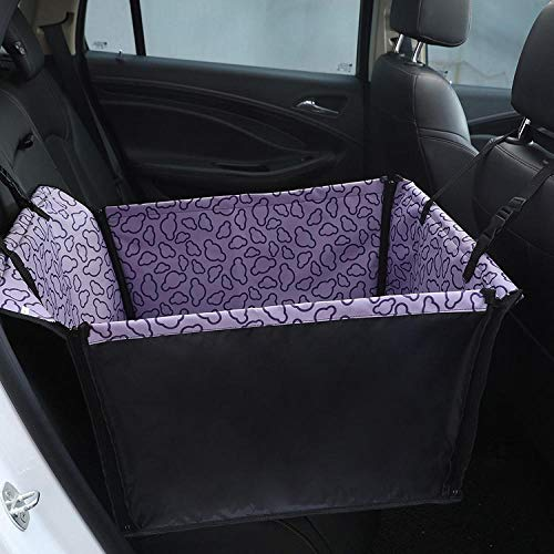 TTXP Doggy Car Seat Purple Cloud Pattern Rear Seat Covers for Pets, Pet Seat Cover, Dog Car Hammock, Water-Resistant, Wander Style