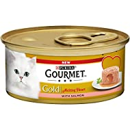 Gourmet Gold Melting Heart Cat Food, Salmon, Pack of 12 x 85g