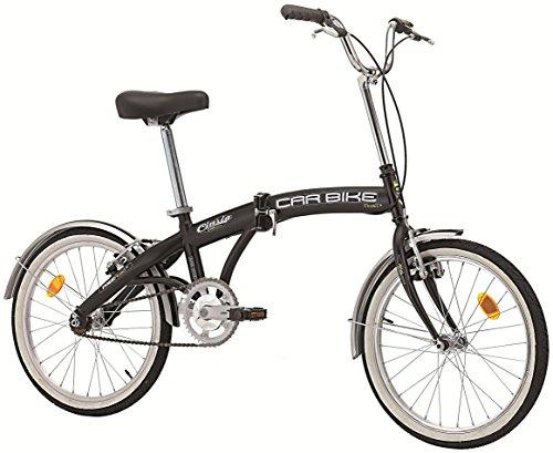 Cicli Cinzia Bicicletta 20' Pieghevole Carbike, Senza Cambio, Nero Opaco, Uomo