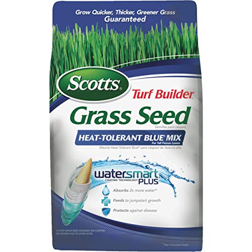 Scotts Turf Builder Heat Tolerant Blue Brand Mix Grass Seed Absorbent 7 Lb.